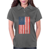American Flag Black Womens Polo