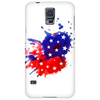 American Flag Blue & Red Splash Phone Case