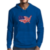 American Flag Map of the United States Mens Hoodie