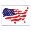 American Flag Map of the United States Tablet