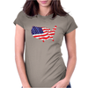 American Flag Map of the United States Womens Fitted T-Shirt