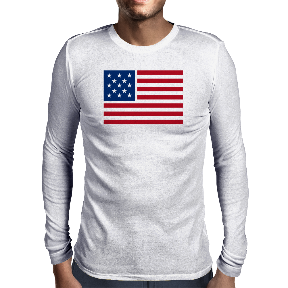 American Flag Stars & Stripes Mens Long Sleeve T-Shirt