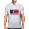 American Flag Stars & Stripes Mens Polo