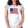 American Flag Stars & Stripes Womens Fitted T-Shirt