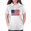 American Flag Stars & Stripes Womens Polo
