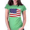 American Flag Womens Fitted T-Shirt