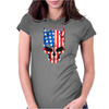American Hellion Skull Womens Fitted T-Shirt