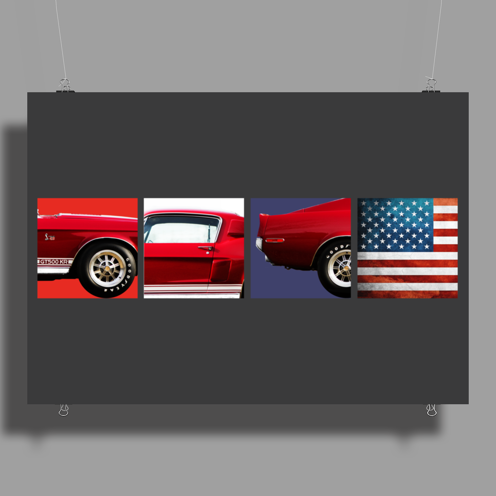 American Icon - Mustang GT500 KR Poster Print (Landscape)