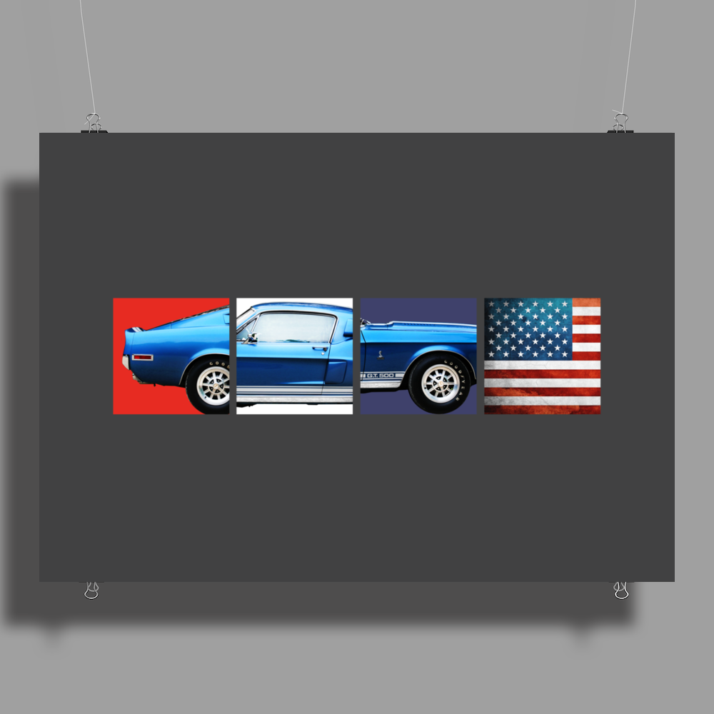 American Icon - Mustang GT500 Poster Print (Landscape)