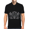 American Idol Scotty McCeery Floral Skull Chains Black Silver9 Mens Polo