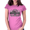 American Idol Scotty McCeery Floral Skull Chains Black Silver9 Womens Fitted T-Shirt