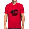 Americana Heart Girls Funny Humor Geek Mens Polo