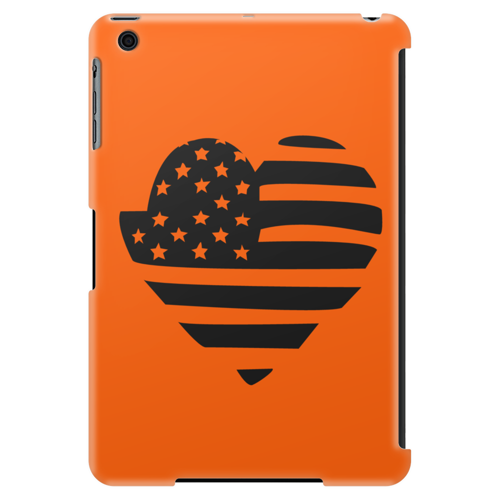 Americana Heart Girls Funny Humor Geek Tablet