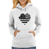 Americana Heart Girls Funny Humor Geek Womens Hoodie