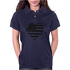 Americana Heart Girls Funny Humor Geek Womens Polo