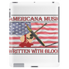 Americana Music, Written With Blood Tablet (vertical)