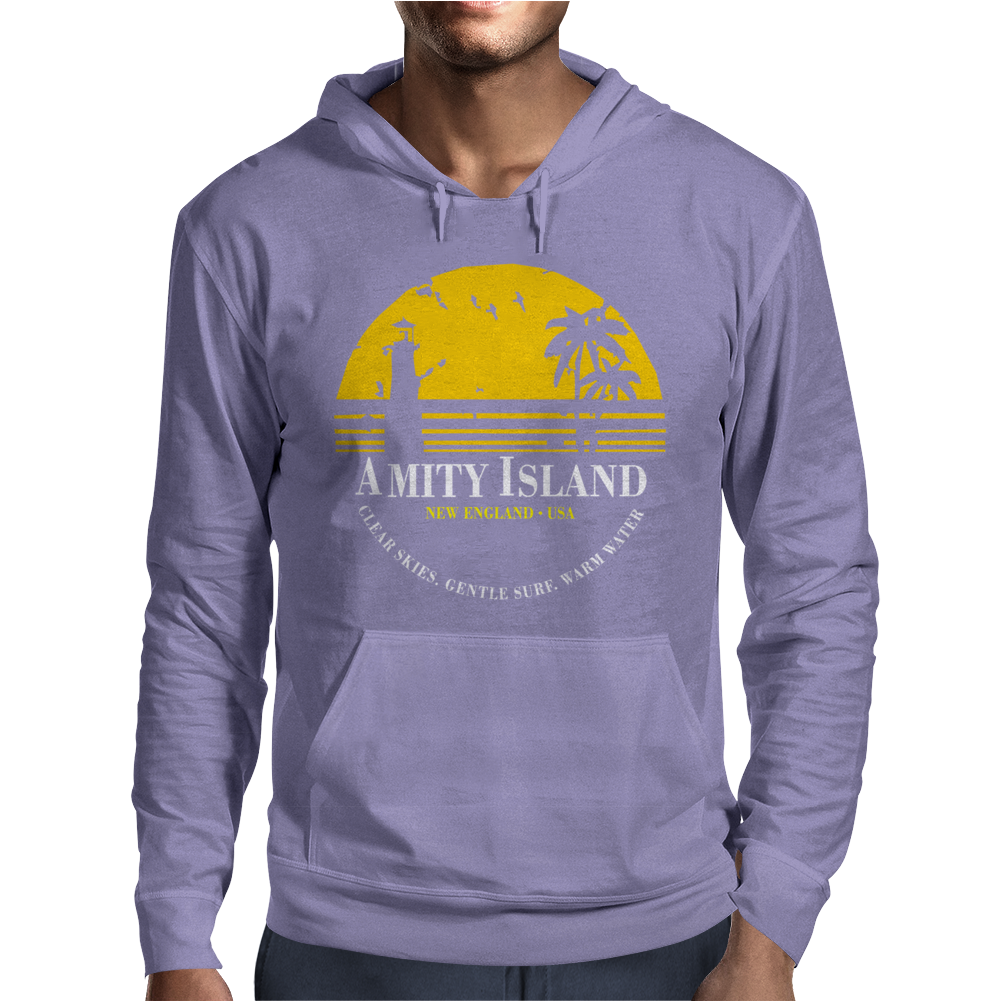 Amity Island Jaws Inspired Movie Shark Printed Mens Hoodie