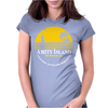 Amity Island Jaws Inspired Movie Shark Printed Womens Fitted T-Shirt
