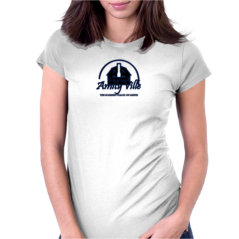 Amityville Funny Humor Geek Womens Fitted T-Shirt