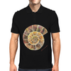 Ammonite, a Prehistoric Snail Mens Polo