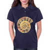 Ammonite, a Prehistoric Snail Womens Polo