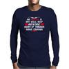 An aplle a day will keep anyone away,if thrown hard enough Funny Humor Geek Mens Long Sleeve T-Shirt