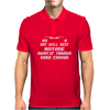 An aplle a day will keep anyone away,if thrown hard enough Funny Humor Geek Mens Polo