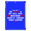 An aplle a day will keep anyone away,if thrown hard enough Funny Humor Geek Tablet