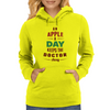 An Apple A Day Keeps The Doctor Away Womens Hoodie