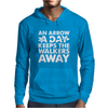 An Arrow a Day Zombie Dary Mens Hoodie