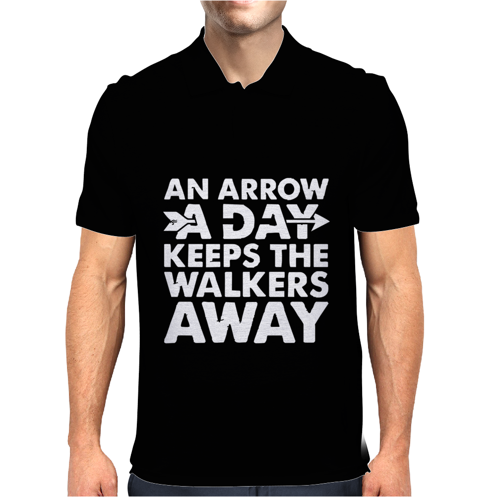 An Arrow a Day Zombie Dary Mens Polo