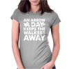 An Arrow a Day Zombie Dary Womens Fitted T-Shirt