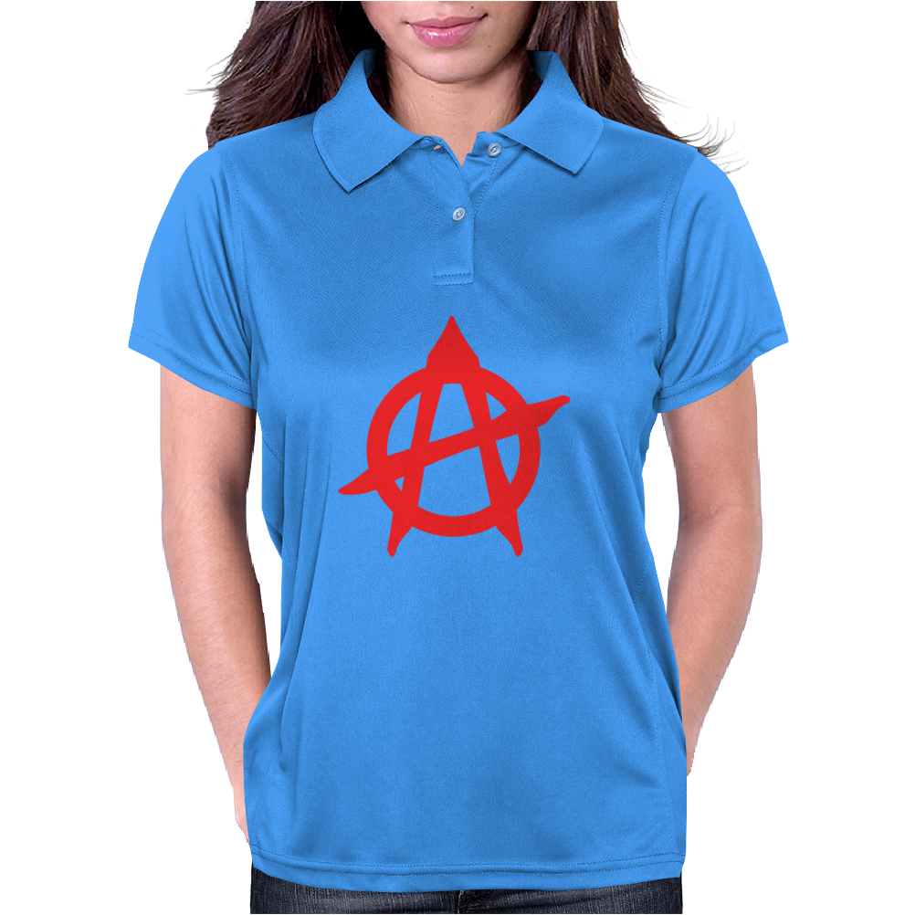 Anarchy Funny Humor Geek Womens Polo