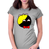 Anarchyball ancap with red bow tie sticker tucker Funny Humor Geek Womens Fitted T-Shirt