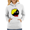 Anarchyball ancap with red bow tie sticker tucker Funny Humor Geek Womens Hoodie