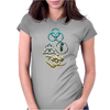 ANCIENT PAGAN SYMBOLS - california chrome Womens Fitted T-Shirt