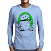 Android Eats Battery Mens Long Sleeve T-Shirt