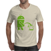 Android Peeing On Apple Cool Mens T-Shirt