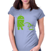 Android Peeing On Apple Cool Womens Fitted T-Shirt