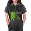 Android Peeing On Apple Cool Womens Polo