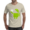 Android Robot Eats Apple Mens T-Shirt