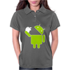 Android Robot Eats Apple Womens Polo