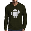 Android Robot Operating Systems Eating Apple Mens Hoodie