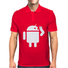 Android Robot Operating Systems Eating Apple Mens Polo