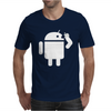 Android Robot Operating Systems Eating Apple Mens T-Shirt