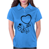 Angel Heart Poop Womens Polo