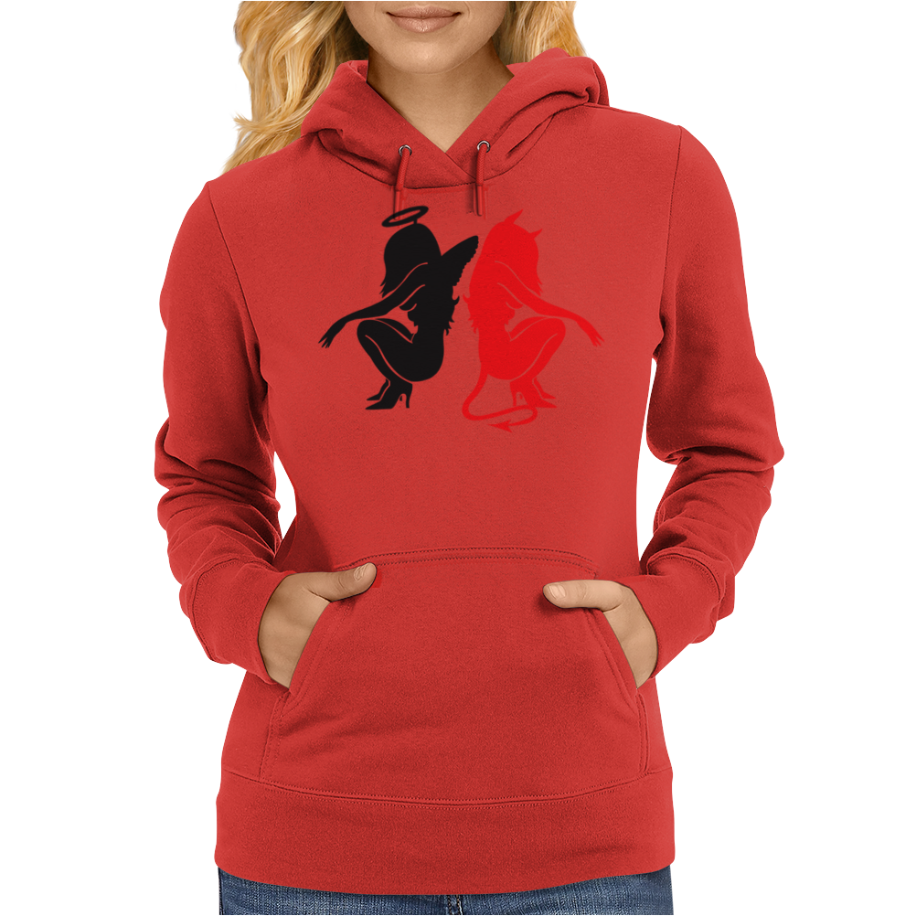 Angel Vs Devil Womens Hoodie