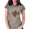 Angler Fish with Green Light Bulb Womens Fitted T-Shirt