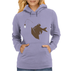 Angler Fish with Green Light Bulb Womens Hoodie
