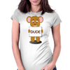 angry bear Womens Fitted T-Shirt